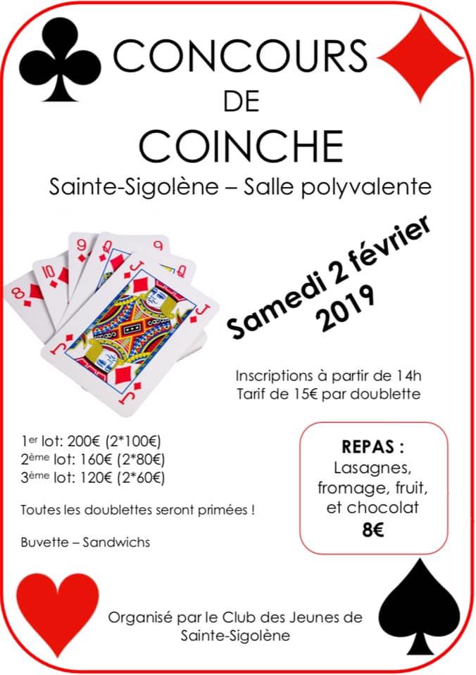Concours coinche Club des Jeunes