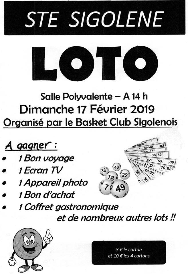 Loto Basket Club Sigolénois
