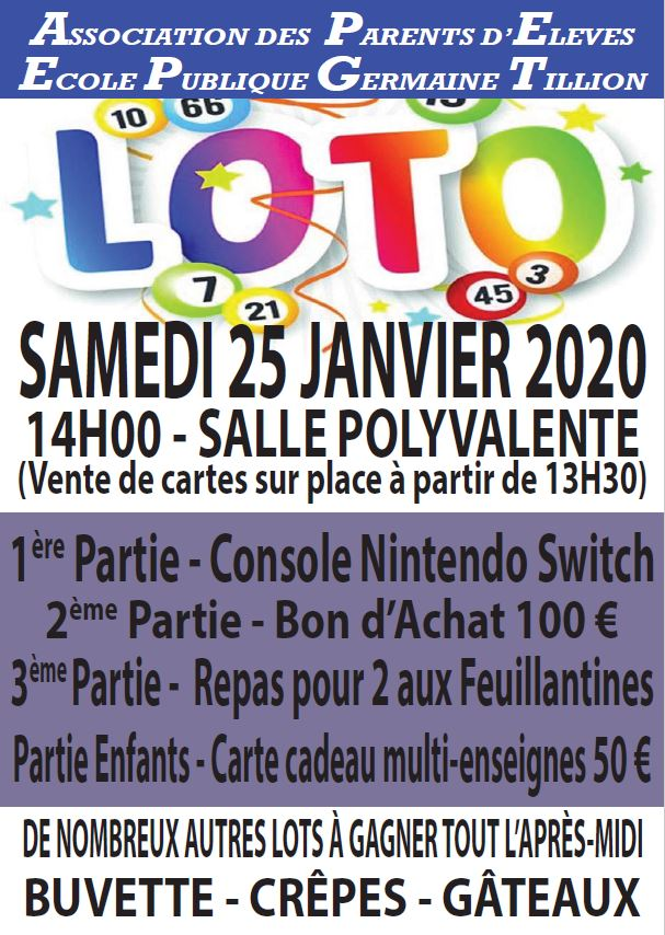Loto école Germaine Tillion