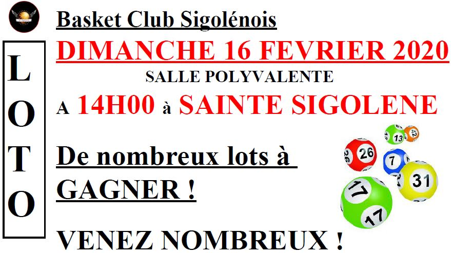 Loto (Basket Club Sigolénois)