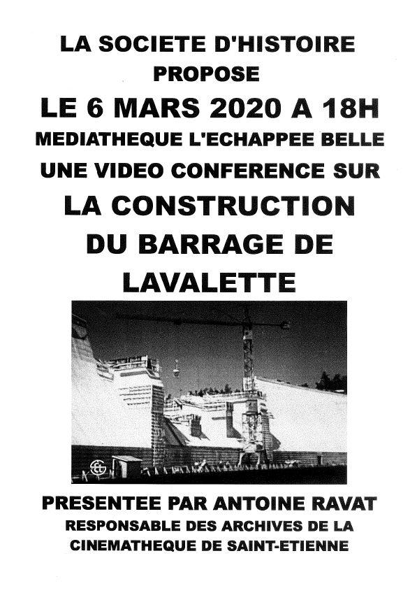 Vidéo-conférence sur la construction du barrage de Lavalette